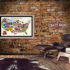 usa craft beer map man cave walls